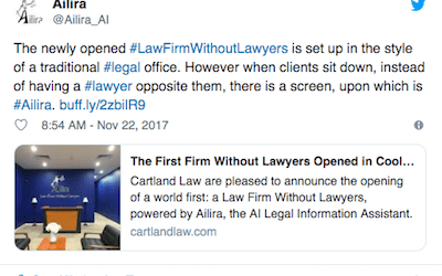 "Law Geex Article: The world's first law firm ""without lawyers"""
