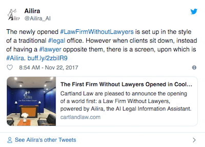 """Law Geex Article: The world's first law firm """"without lawyers"""""""